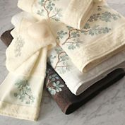 2nd Floor / Towels For The Montaigne Day Care Nursery Powder Room / Floral Embroidered Towels