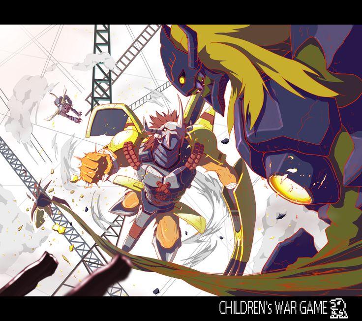 WarGreymon And MetalGarurumon vs Diaboromon | Digimon ...