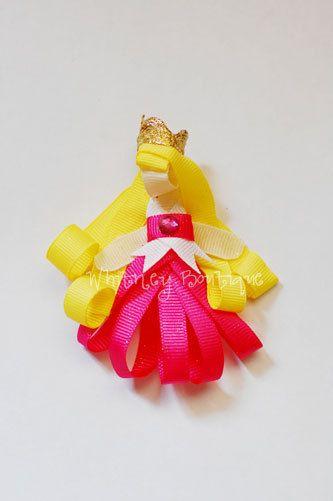 Disney Aurora ribbon sculpture Hair Clip