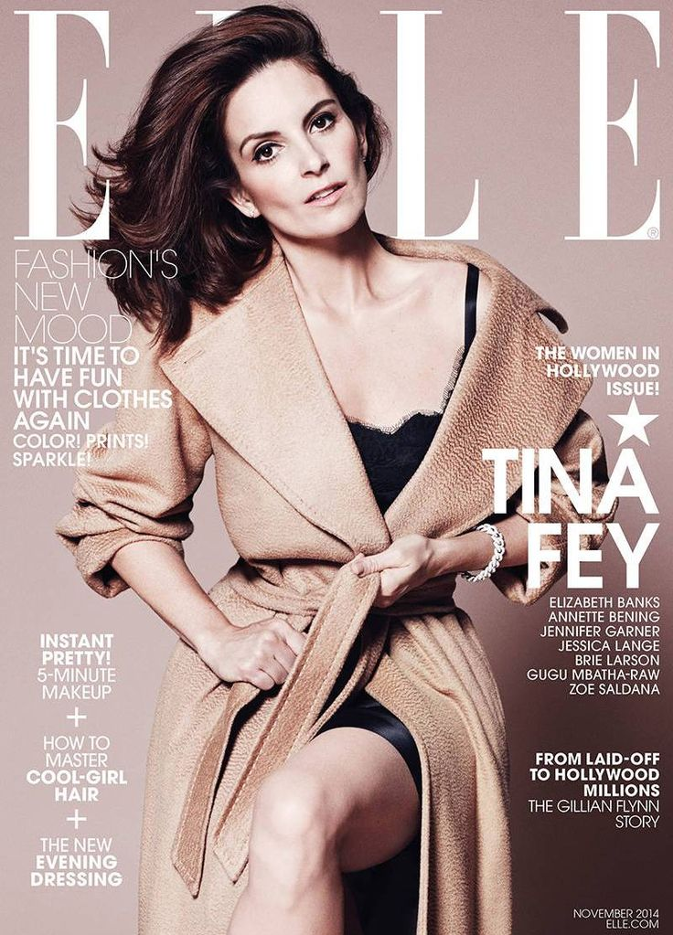 Elle US November 2014 | Tina Fey by Paola Kudacki #Covers2014