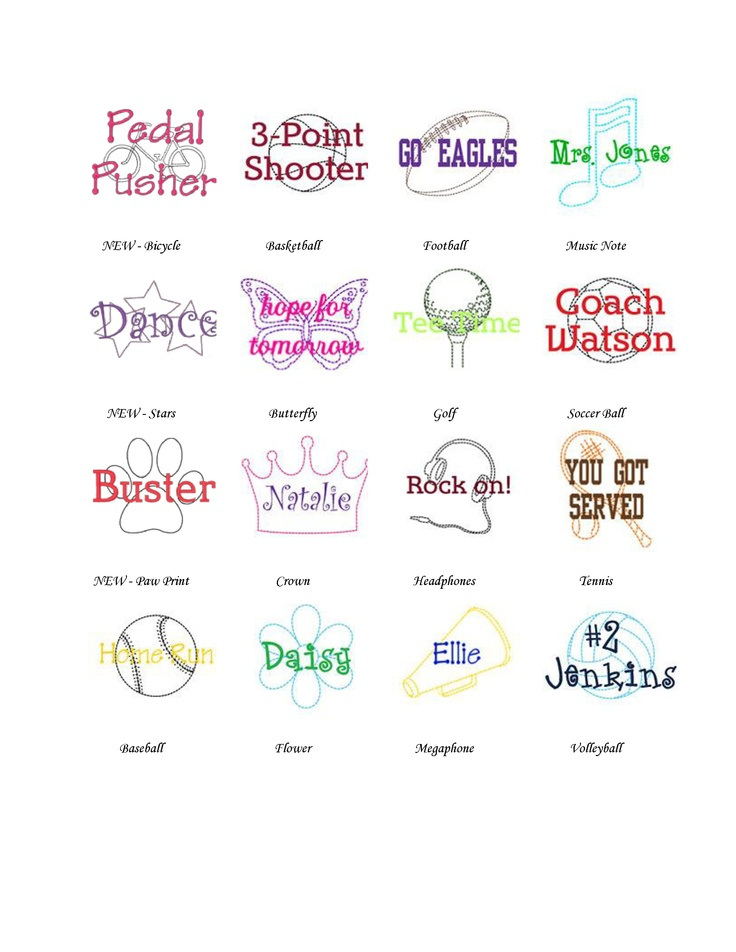 All the AWESOME ways to personalize your Thirty-One bags/accessories!!  <3 the Icon-It!! Visit www.mythirtyone.com/ctmoore to place an order!  :)