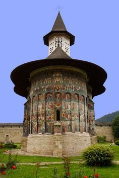 The Beautiful Moldavian Style Church Of Zosin, Botosani Romania