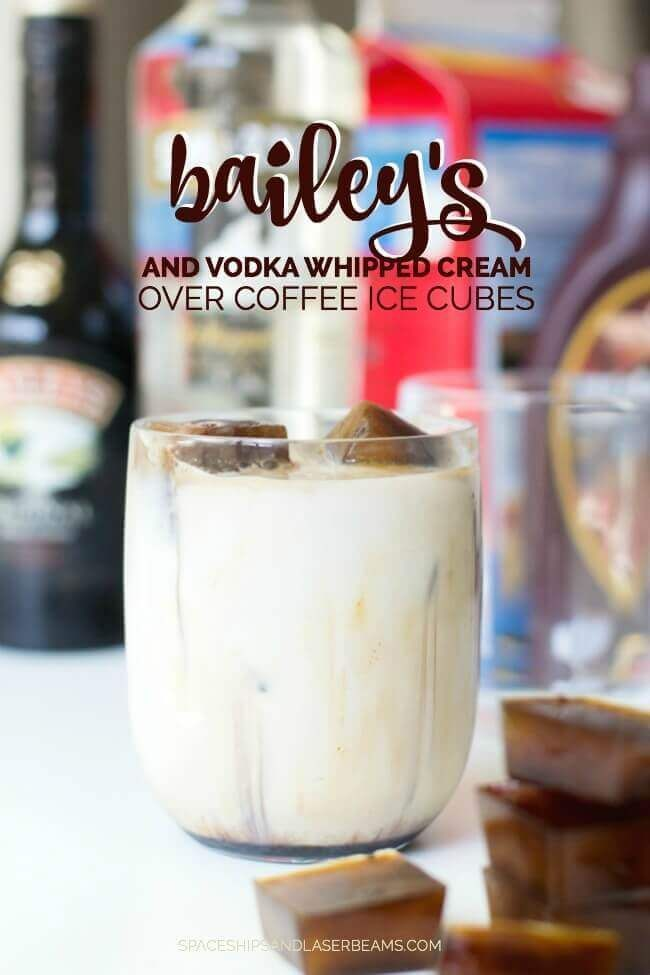 Bailey's & Vodka Whipped Cream with Coffee Ice Cubes, Click Through Now For The Recipe!