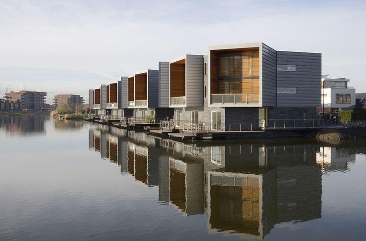 Beautiful houseboats in Rotterdam #klimatanpassning