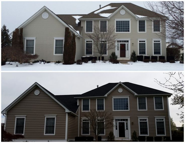 Before Amp After Insulated Backed Vinyl Siding Munz