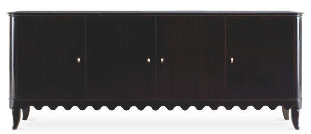 Lela Low Sideboard, Black
