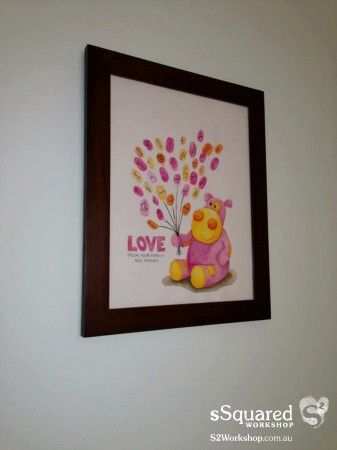 baby shower guestbook for Helen - makes a beautiful piece of art for the nursery.