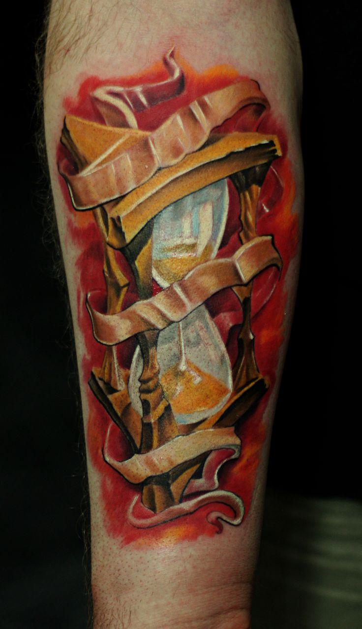 kum saati, hourglass, tattoo, dövme