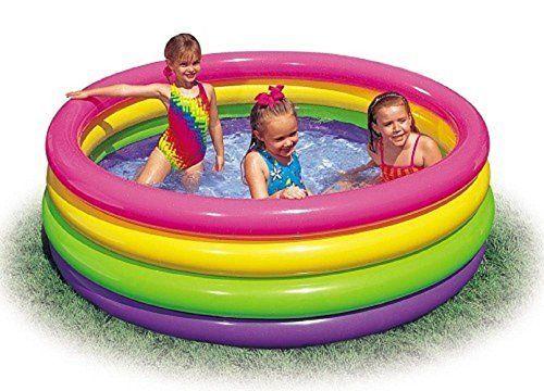 Babypool Baby Pool Planschbecken Kinderpool Kinderplanschbecken Schwimmbecken Baby-Pool Durchmesser ca. 168 cm Höhe / Aber auch optisch ist der Baby-Pool mit bunten Ringen echter Blickfang und sorgt im Nu für gute Laune. ideal für den Garten , Terrasse , Urlaub , Camping der ideale Wasserspass und Abkühlung an heissen Tagen von Bavaria Home Style Collection, http://www.amazon.de/dp/B00KXTDJZG/ref=cm_sw_r_pi_dp_XaWUtb05QZQ3A