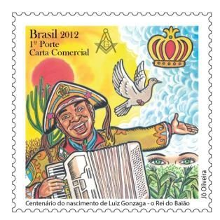Correios lança selo comemorativo de Luiz Gonzaga, o Rei do Baião