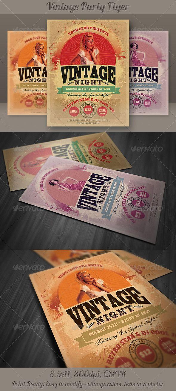 314 best Flyer Inspiration images on Pinterest Editorial design - retro flyer templates
