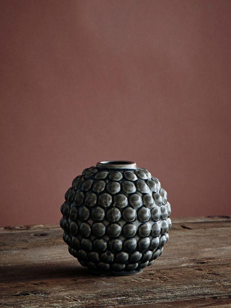 Vase Dotty Round - Grey