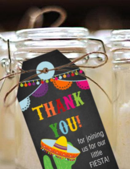 Mexican Fiesta Party Favor Tags  Fiesta Favors  by SunshineParties......love these Thank You tags!