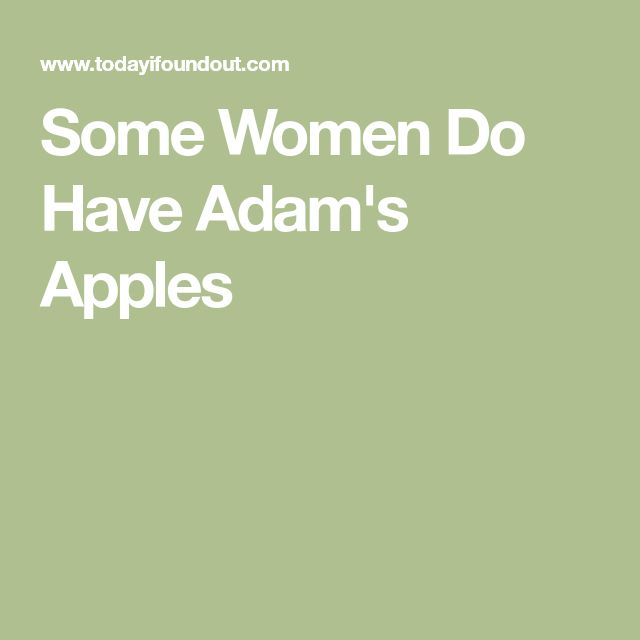 Some Women Do Have Adam's Apples