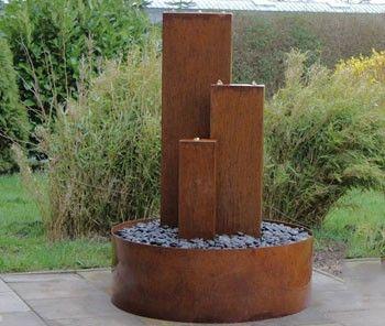 Unique Ein Gartenbrunnen aus Cortenstahl ist immer wieder ein herrliches Dekorationselement f r den Garten