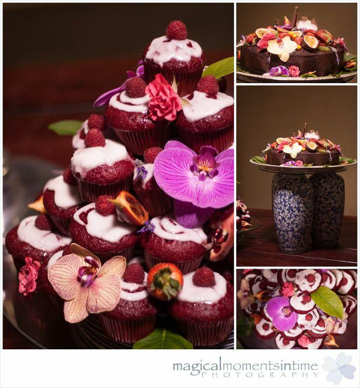 Wedding at 401 Rozendal red velvet cupcake tower and wedding cake