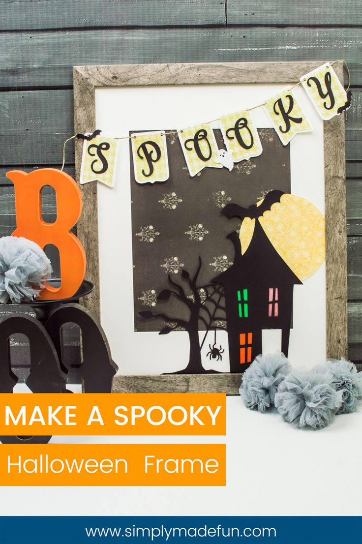 how to make a spooky halloween frame - Non Scary Halloween Decorations