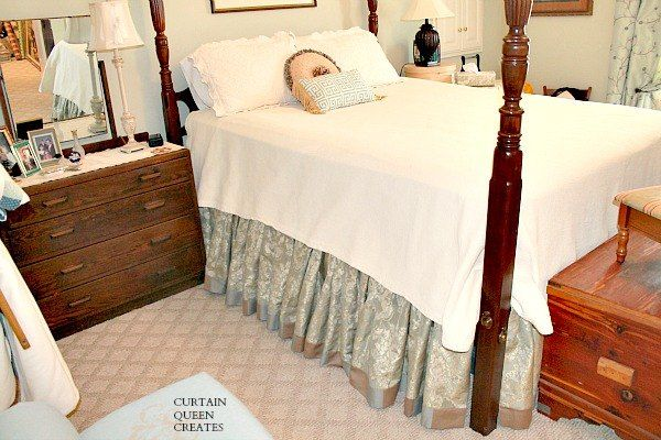 Gathered Bed Skirt DIY - Achieving the Custom Look