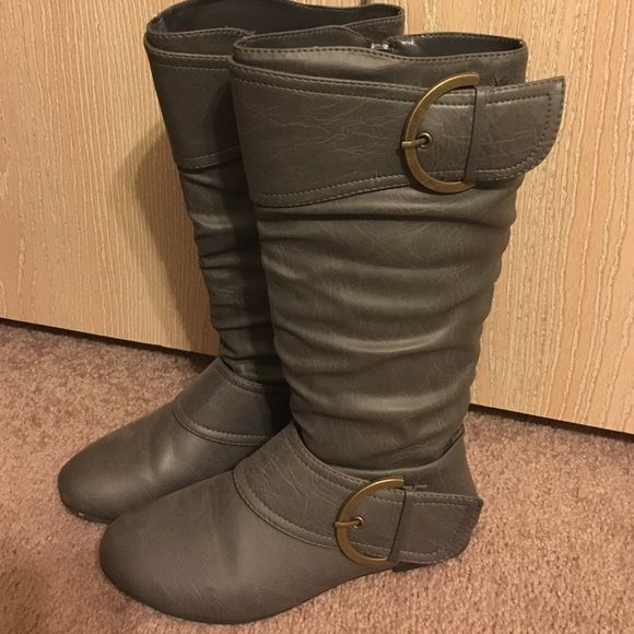 Gray boots From Gordmans Shoes Winter & Rain Boots