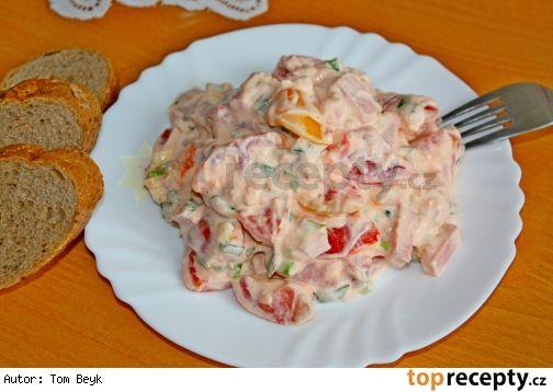 + 18 rajčatový salát s mléčnou majonézou