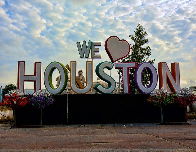 Reminder -- take photos in front of We <3 Houston sign.