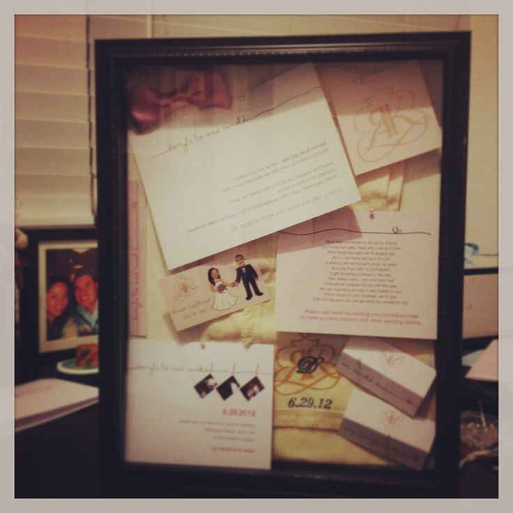 Wedding Gifts For Bride And Groom In The Philippines : Wedding shadow box -invitation -gift bag from the Philippines -save ...