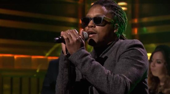 """Prev1 of 2Next Lupe Fiasco hit the stage at The Tonight Show Starring Jimmy Fallon to perform his single """"Little Death"""" alongside Nikki Jean. His new album Tetsuo & Youth is available now. Watch the performance on page 2. Prev1 of 2Next"""