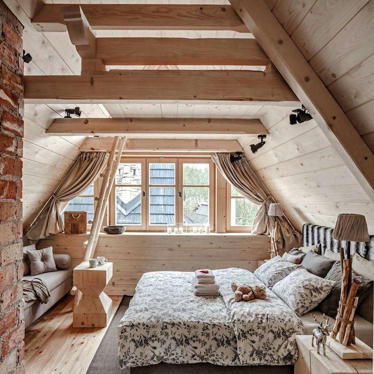 D coration chalet int rieur incontournables pour r ussir l ambiance cosy attic mansarde - Interieur chambre ...
