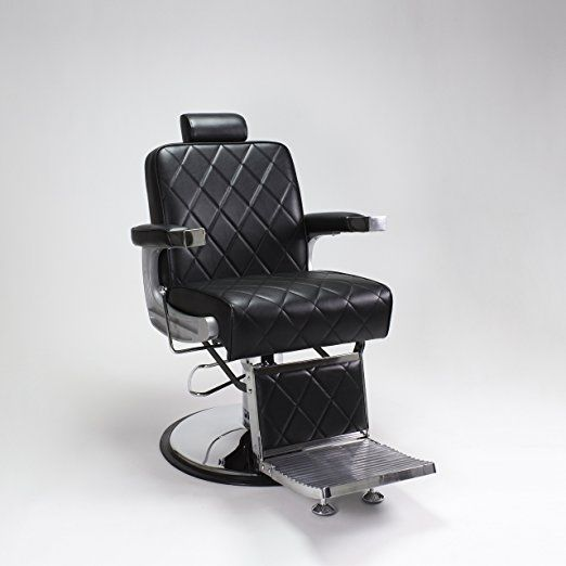 Salon Chairs and Dryers: Barber Chair Black King Heavy Duty Hydraulic Recline Barber Shop Salon Furniture -> BUY IT NOW ONLY: $608 on eBay!