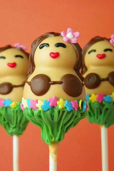 Hula Dancers (Cake Pops)