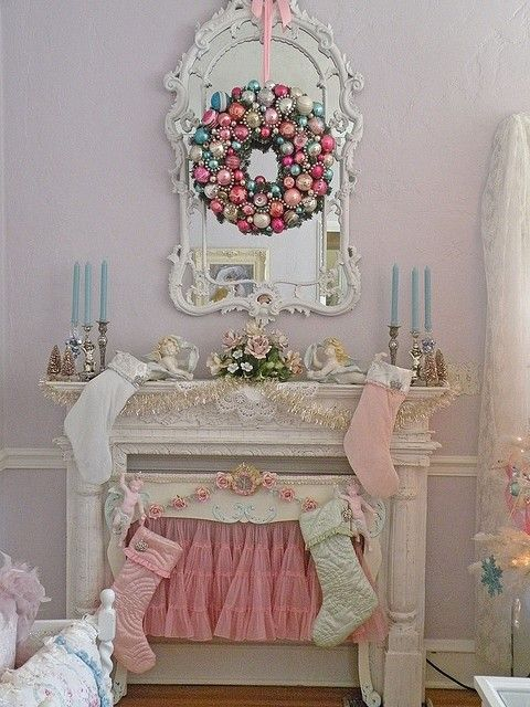 17 best images about christmas pastels on pinterest - Shabby chic christmas decorations to make ...