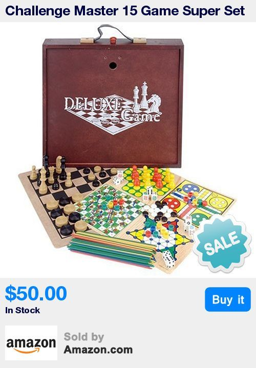 15 Board Games in One Box set * Carrying Handle for Transporting to a Friend's House * All playing pieces included.