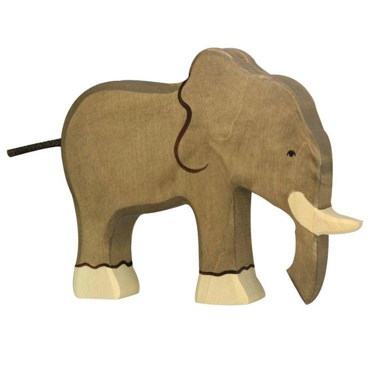 Wooden Elephant Holztiger Toy | Worldwide shipping www.minizoo.com.au