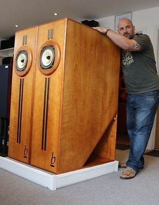 """MASSIVE BEAUHORN ACC'O SPEAKERS with Lowther PM6C Drivers 51"""" tall!!!"""