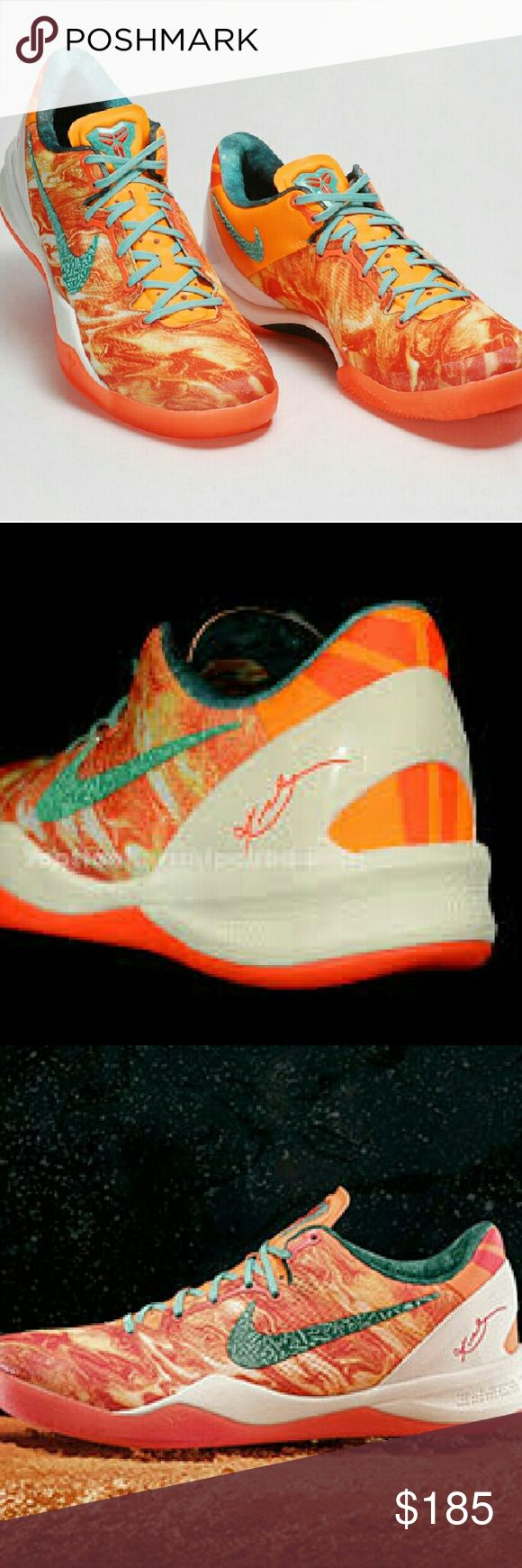 "Nike KOBE 8 System Sneaker The Houston-inspired Nike KOBE 8 System shoe for Kobe Bryant 'hails' from planet NSP-KB24 with a ""volatile surface.""? says size 7Youth, unisex and fits ladies size 9, men's size 7. Nike Shoes Athletic Shoes"