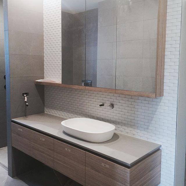 the semi recessed mirror and timber framing open shelvinglate nightsdesign interiorsbathrooms