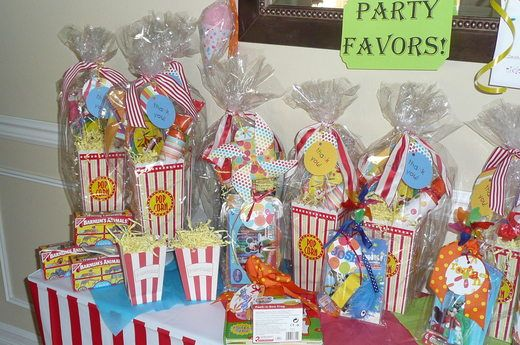 Party favors idea: make round toy story bday label and cover up the popcorn label. Fill with things like play doh, swirl pops, animal crackers, toy story fruit snacks, pop corn.