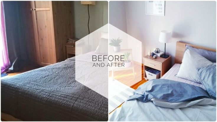 Chrysa's bedroom before and after by VioletMimosa!