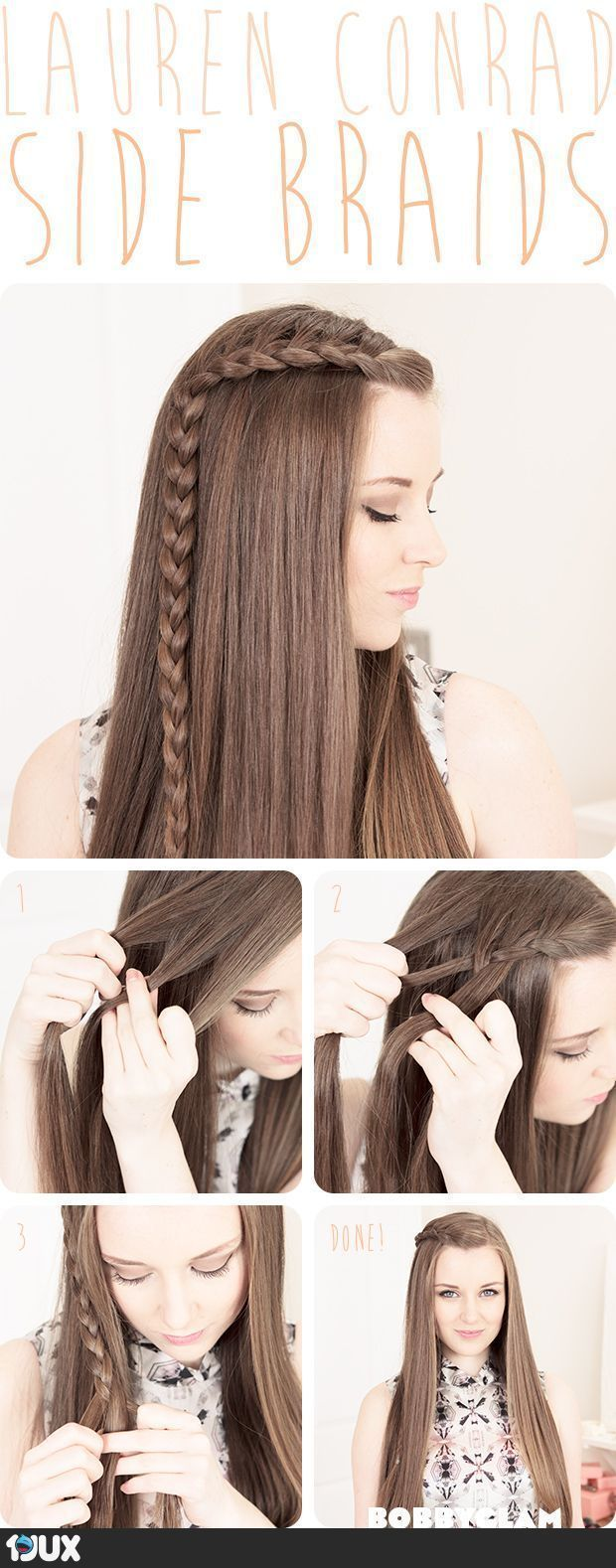 Easy Hairdo with Braid. seems like something that you could do in less than 10 mins.... besides straightening that good