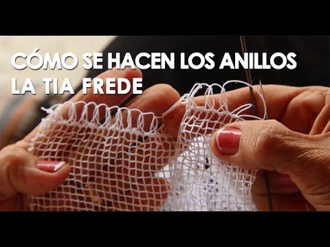 Cómo se hacen los anillos del el tejido en pajita (Tia Frede) - YouTube