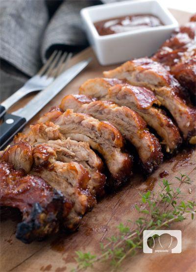 Costillas de cerdo asadas al horno