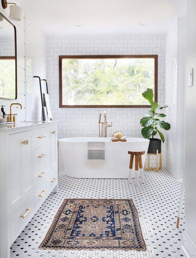 15 Amazing Modern Bathroom Floor Tile Ideas And Designs Hexagon