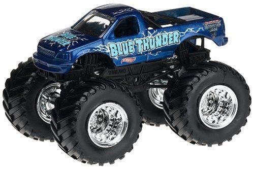Hot Wheels Monster Jam Blue Thunder Truck Scale 1:64 (Small Version)
