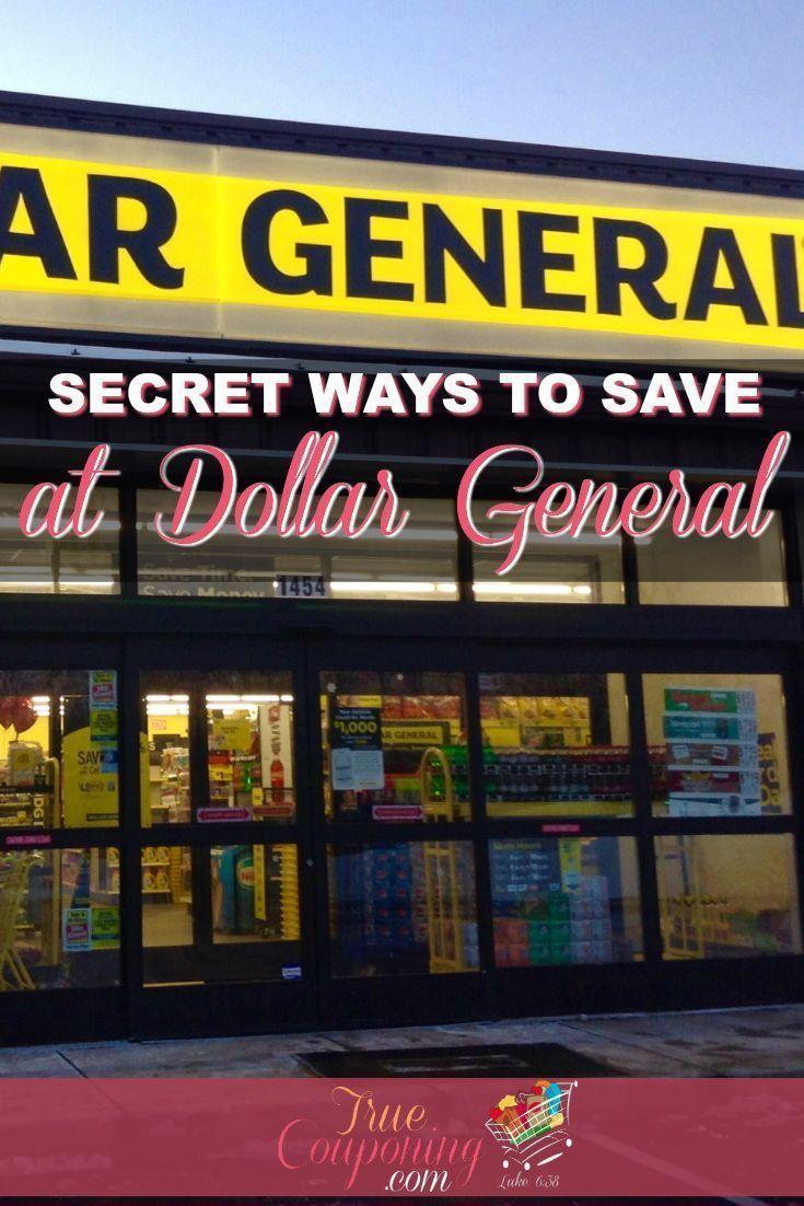 Secret Ways to Save at Dollar General! #dollargeneral #dollarstore #moneysavings #truecouponing