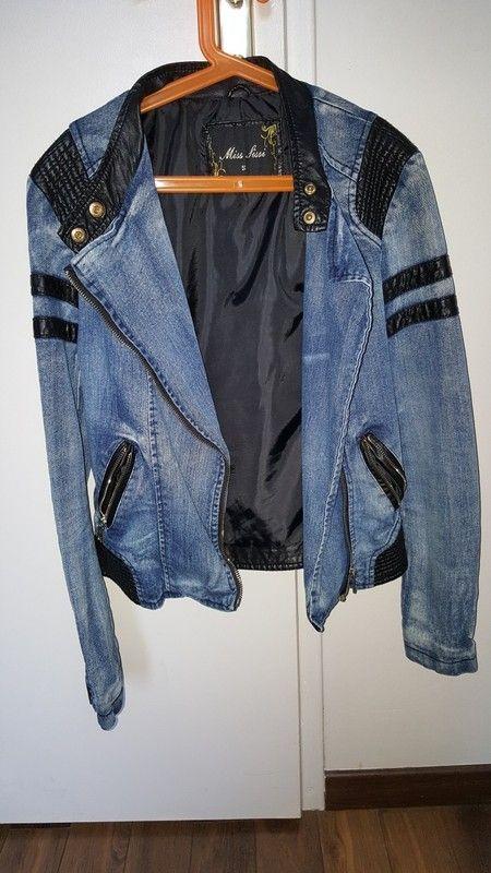 Veste en jean/simili cuir