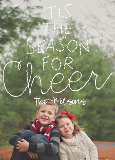 """holiday card """"Cheer"""""""