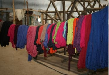 Take a look inside Mia Zia's factories in Morocco & Nepal... Some fabrics to be use to make scarves