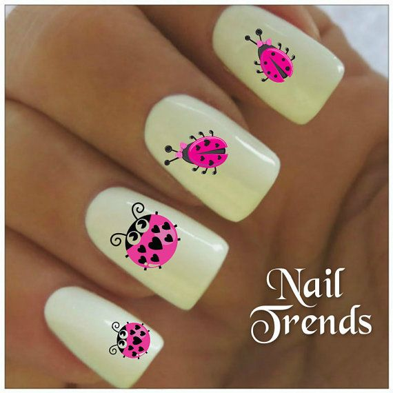 Ladybug Vinyl Stickers, Nail Art Decals