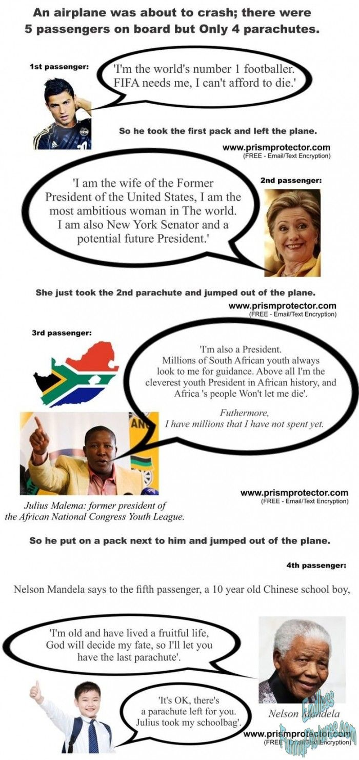 Funny picture: Last Parachute and Julius Malema