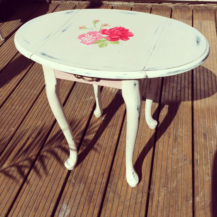 Ta da Annie Sloan Chalk Paint Drop Leaf Table   Duck Egg, Antoinette, Original and Clear Wax